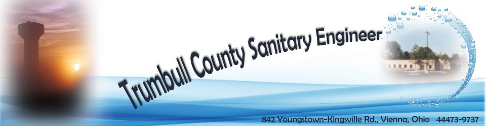 Heading introducing Trumbull County Sanitary Engineer.